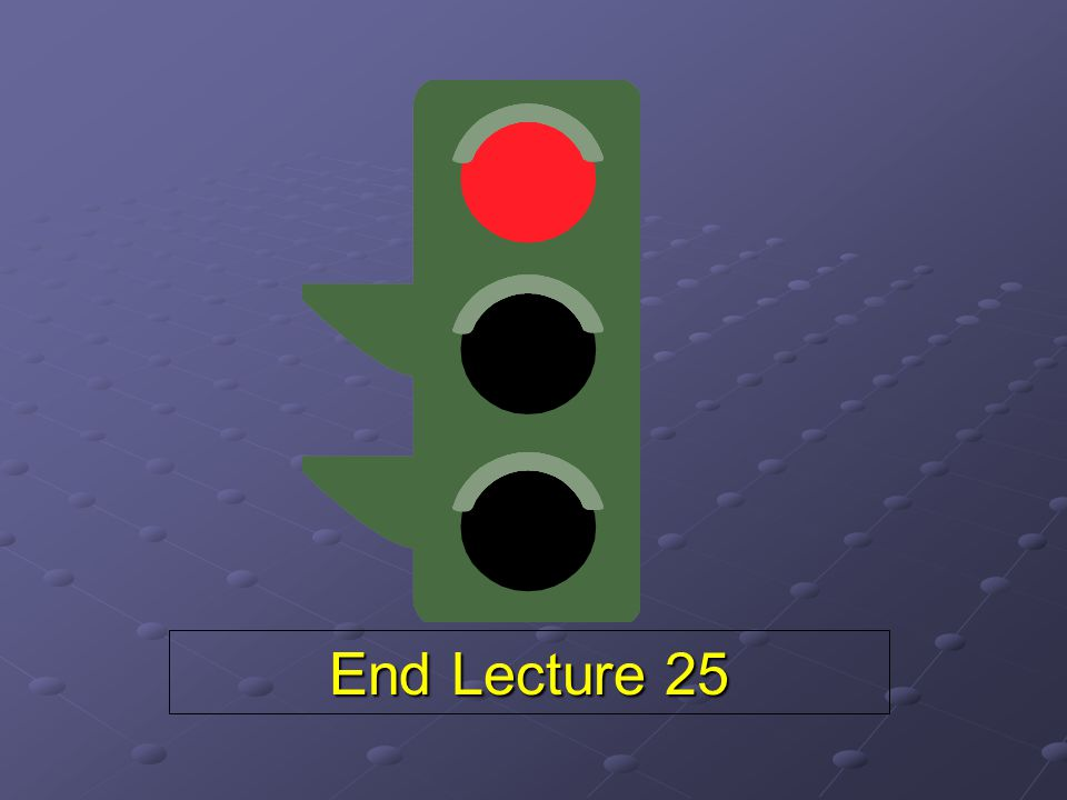 End Lecture 25