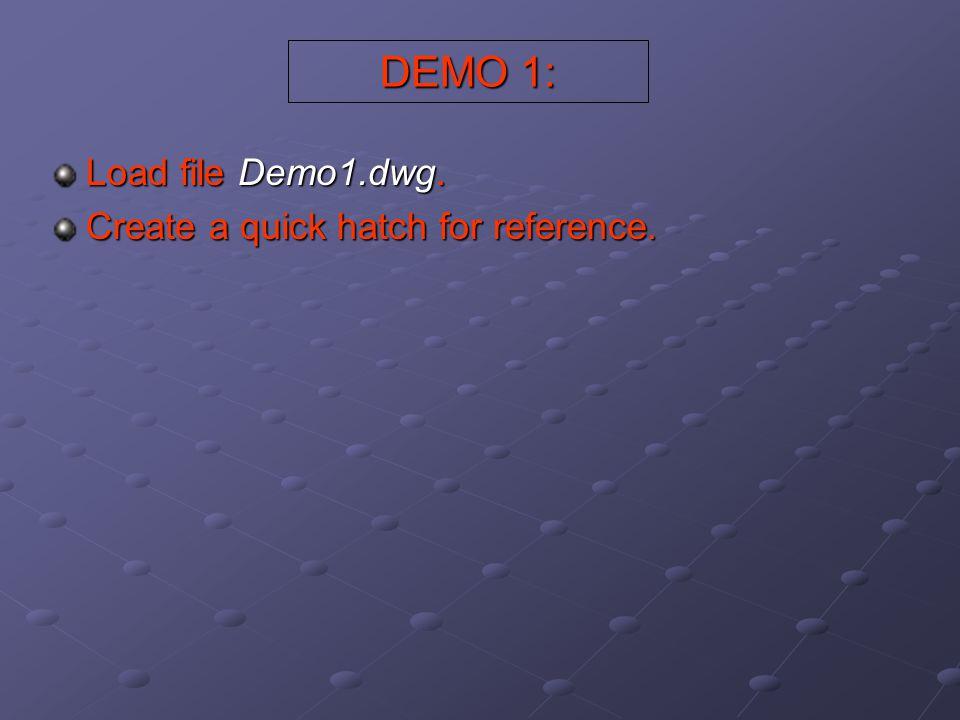 Hatch Patterns AutoCAD provides numerous predefined hatch patterns.