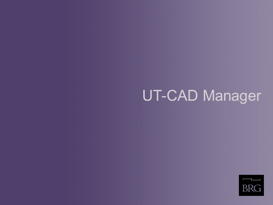 UT-CAD Manager