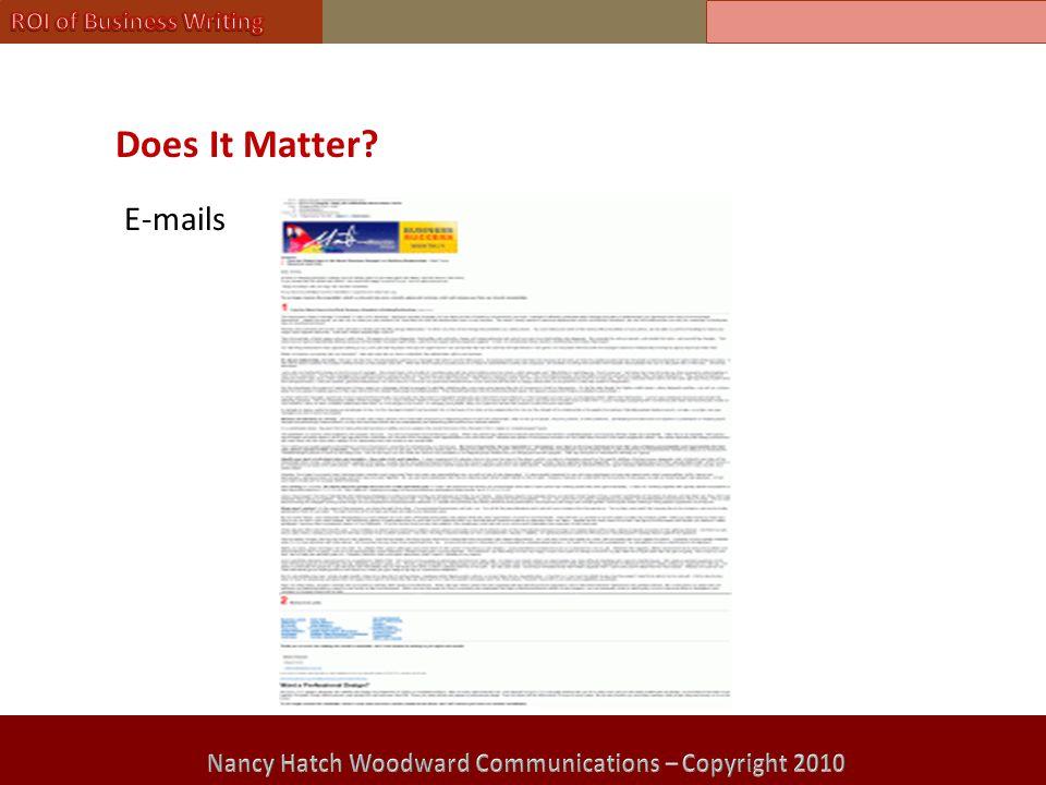 Does It Matter? E-mails