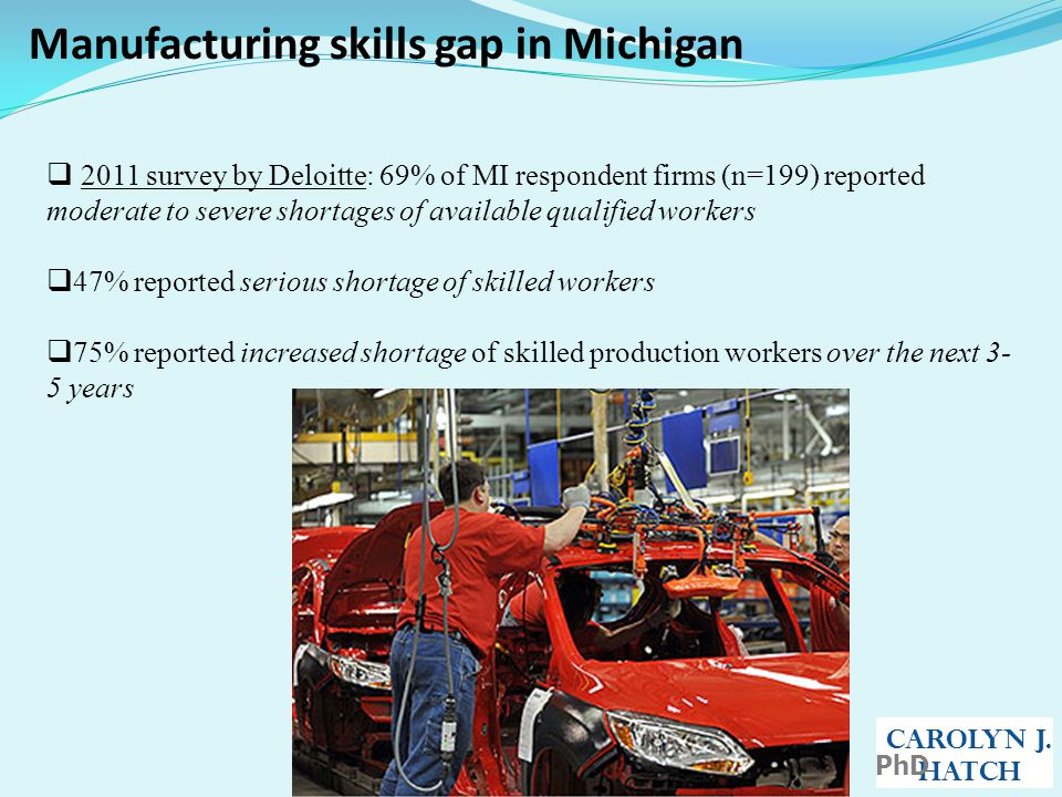 Manufacturing skills gap in Michigan CAROLYN J.