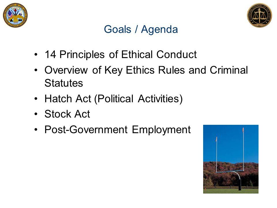 Review of Key Criminal Statutes