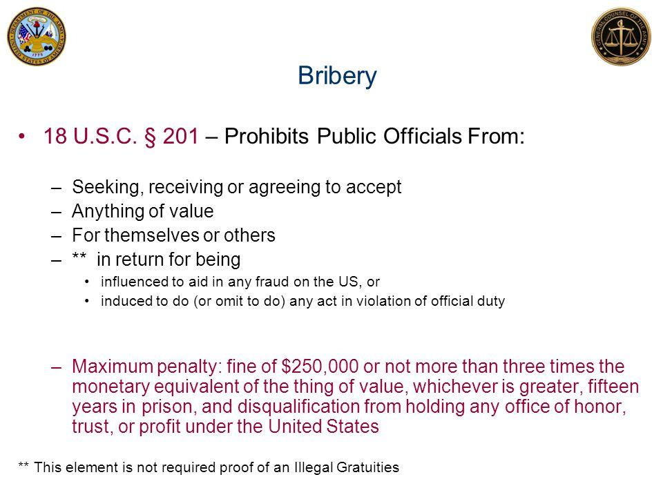 18 U.S.C.§§ 203 and 205 Representing Back 18 U.S.C.