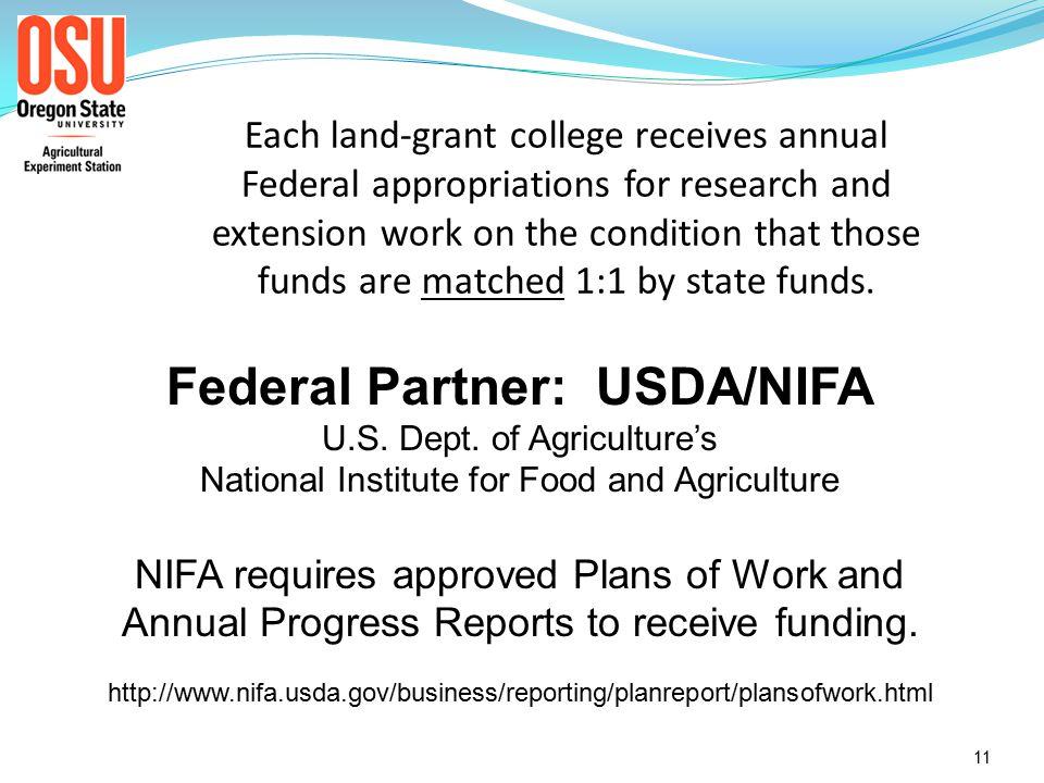 Oregon Agricultural Experiment Station 10 10-22-08 Formula Grants Program * Background *