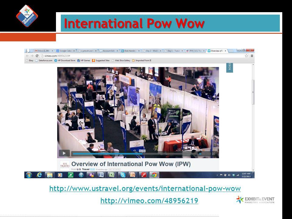 International Pow Wow http://www.ustravel.org/events/international-pow-wow http://vimeo.com/48956219