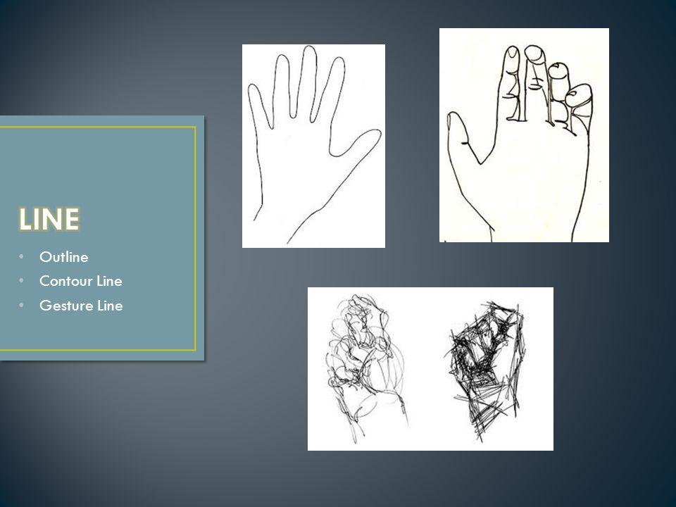 Outline Contour Line Gesture Line