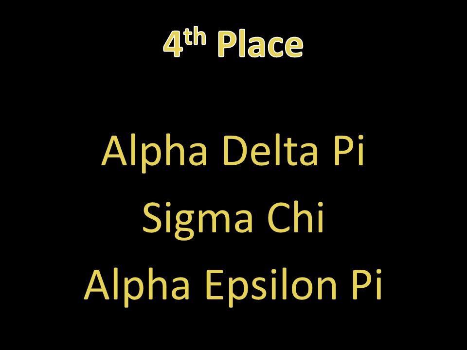 Alpha Delta Pi Sigma Chi Alpha Epsilon Pi