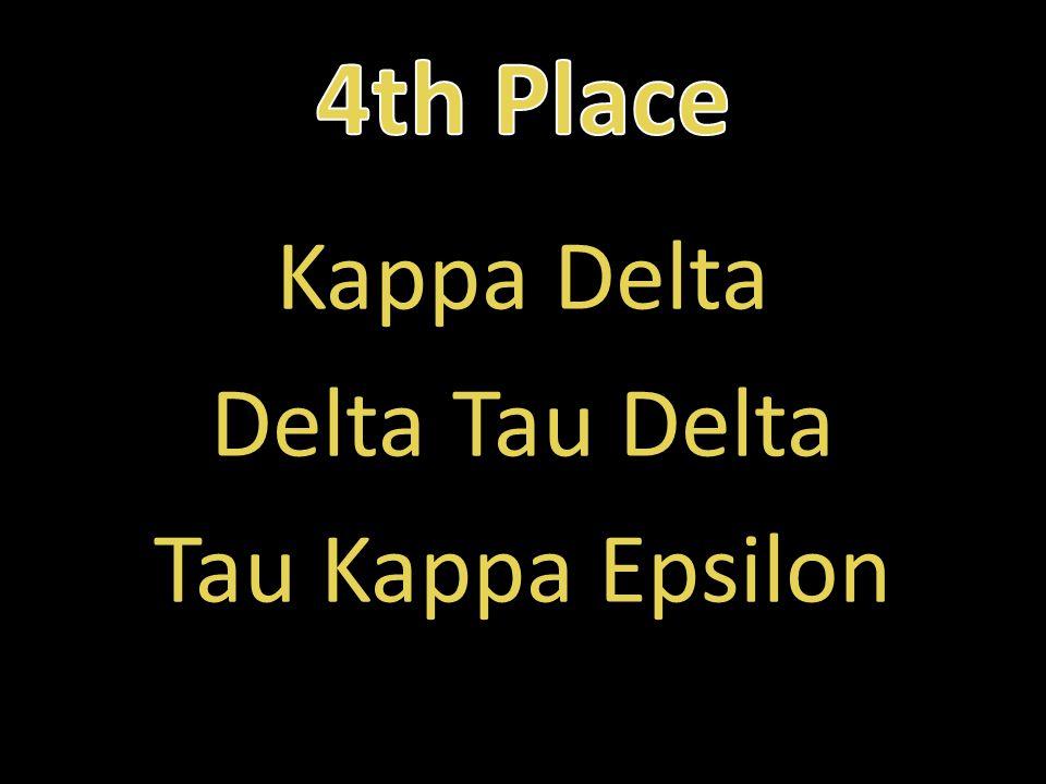 Kappa Delta Delta Tau Delta Tau Kappa Epsilon