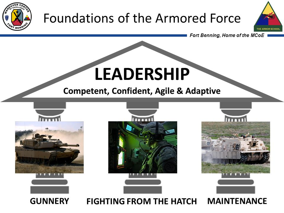 Fort Benning, Home of the MCoE Maneuver Center of Excellence - Team of Soldiers, Families, and Civilians from the Best Army in the World! Foundations