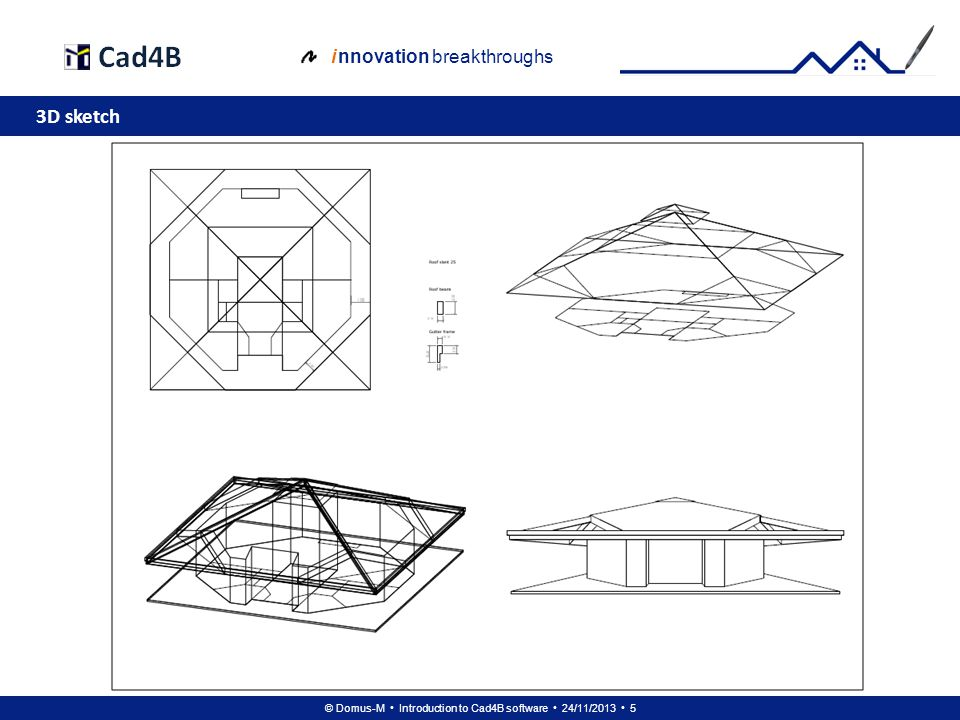 © Domus-M Introduction to Cad4B software 24/11/2013 6 i nnovation breakthroughs Shade of sketch volume