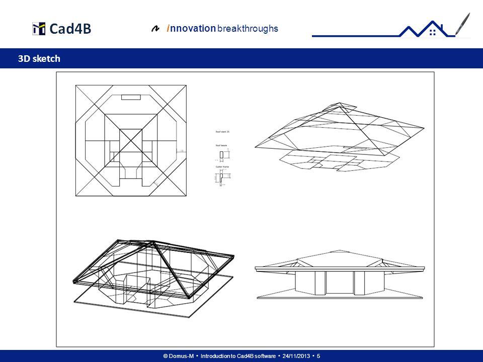 © Domus-M Introduction to Cad4B software 24/11/2013 46 i nnovation breakthroughs Floor 1: 2D base model