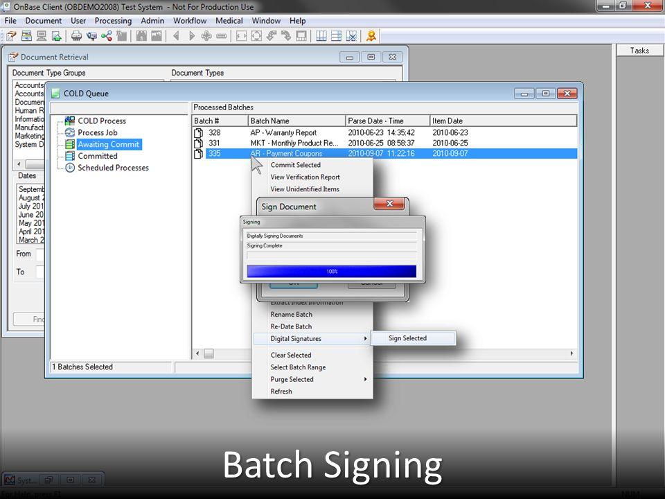 Batch Signing