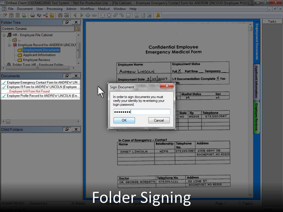 Folder Signing