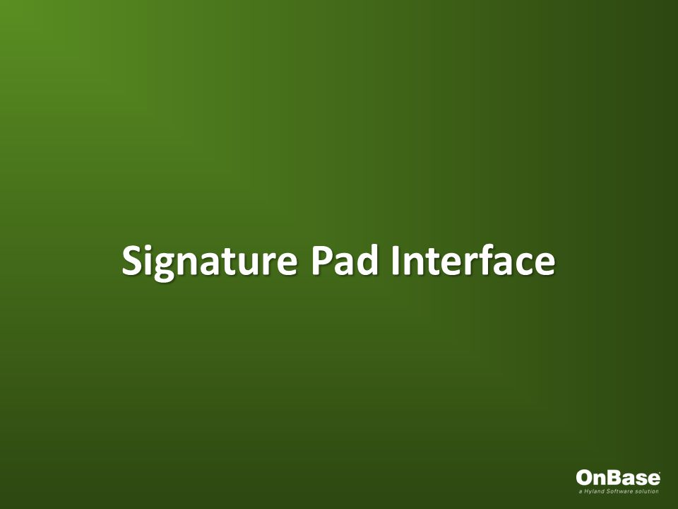 Signature Pad Interface