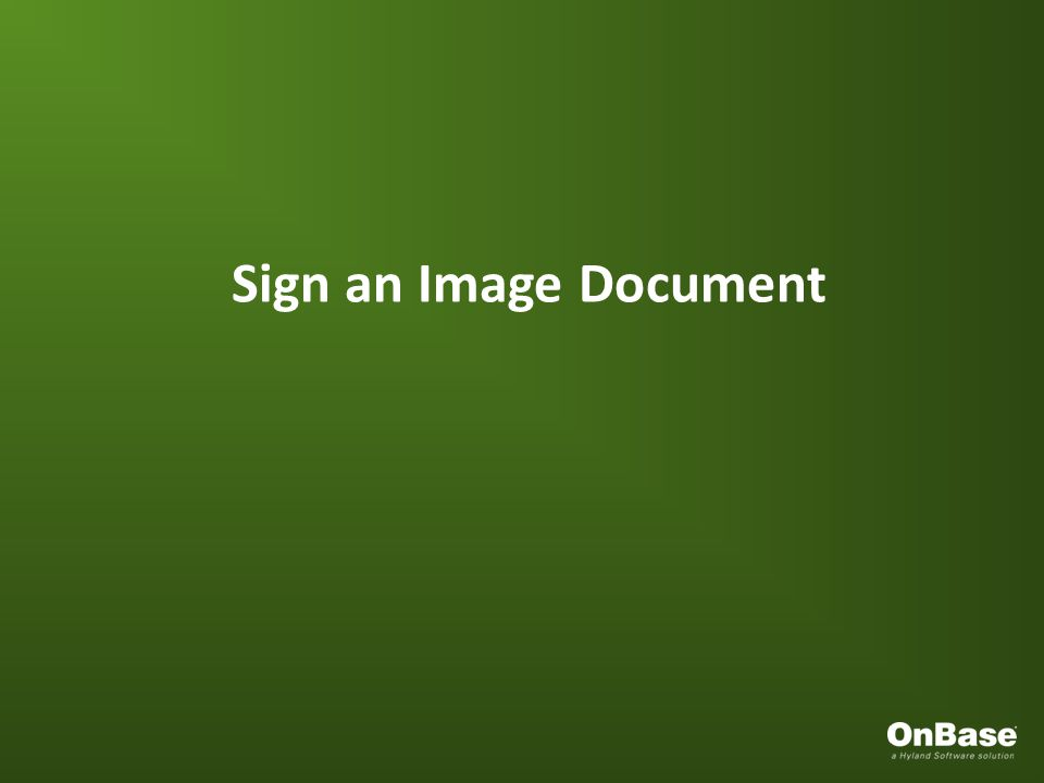 Sign an Image Document
