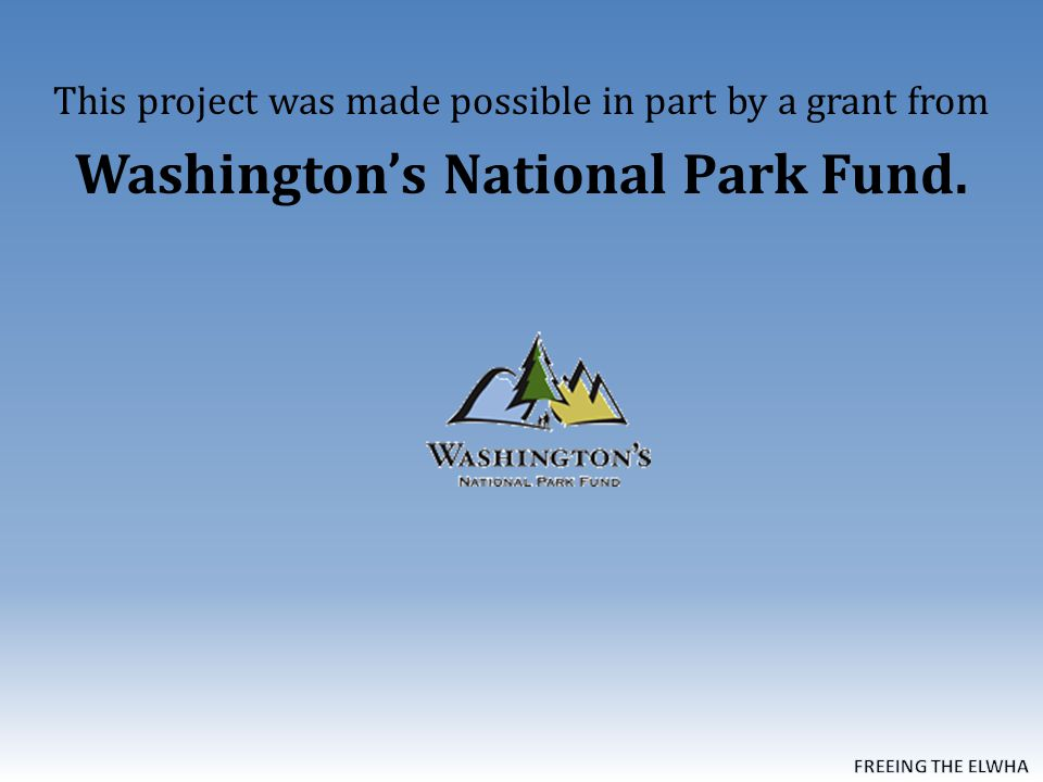 This project was made possible in part by a grant from Washington's National Park Fund.