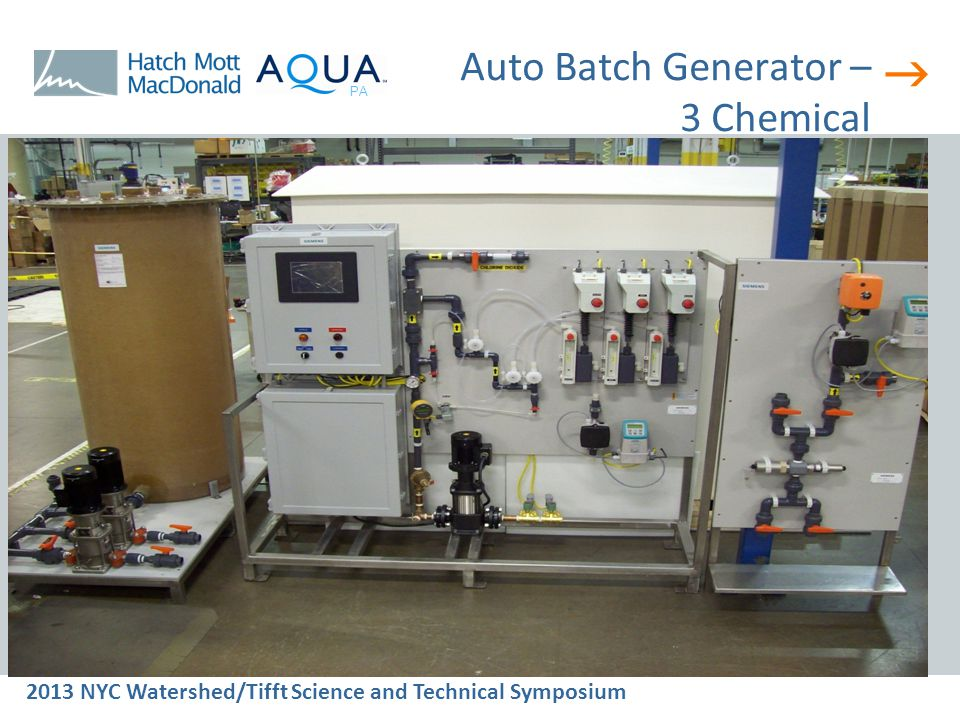  2013 NYC Watershed/Tifft Science and Technical Symposium PA Auto Batch Generator – 3 Chemical