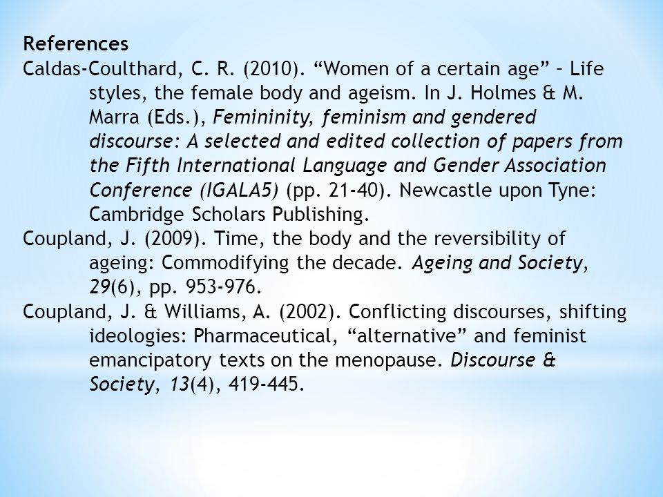 References Caldas-Coulthard, C. R. (2010).