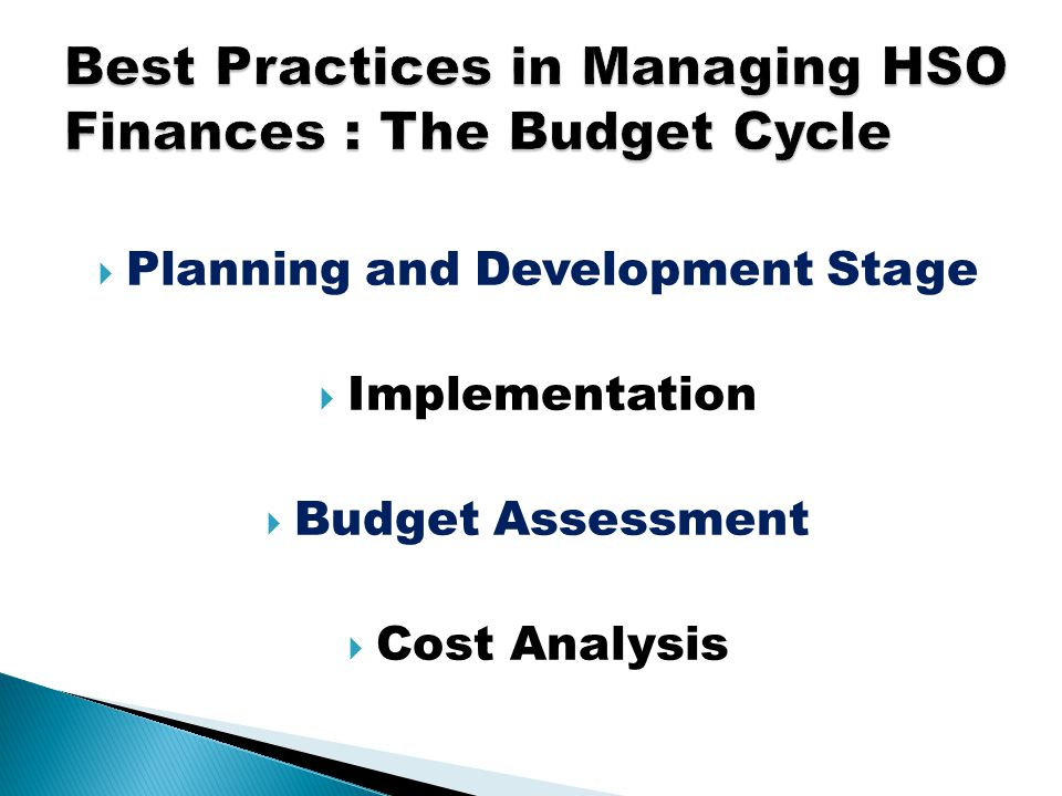  Planning and Development Stage  Implementation  Budget Assessment  Cost Analysis