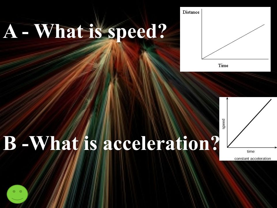 A - Distance divided by time B - Velocity or speed divided by time