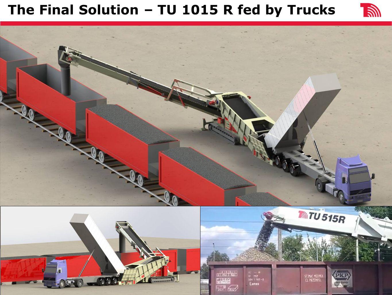 The Final Solution – TU 1015 R fed by Trucks