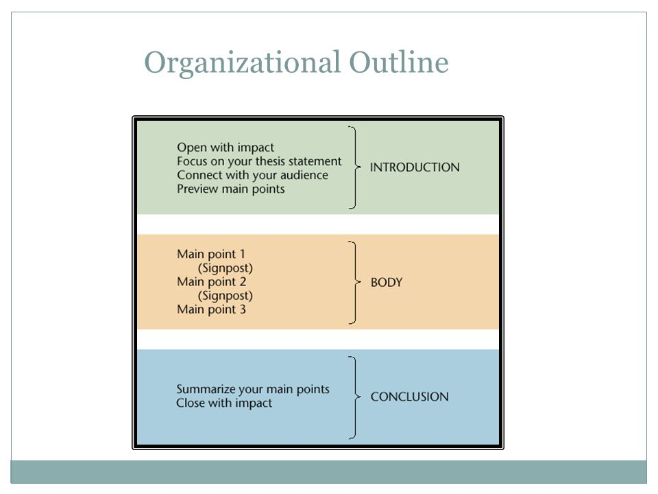 Organizational Outline