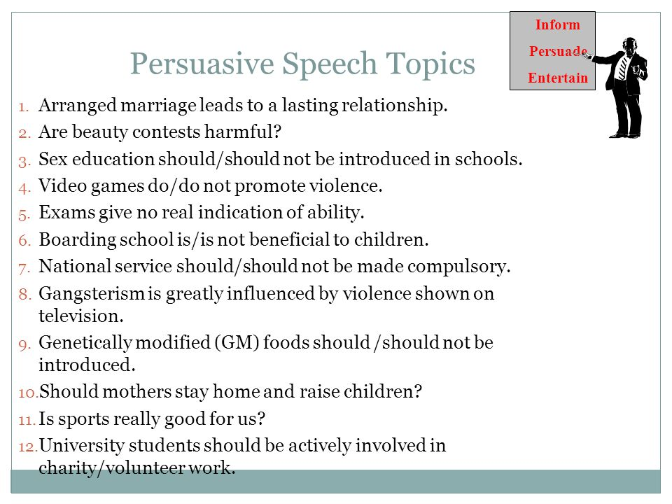Unique Persuasive Speech Topics Persuasive Speech Topics And Ideas