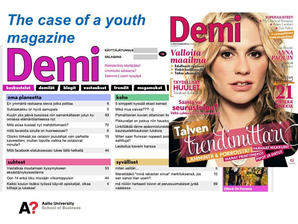 The case of a youth magazine