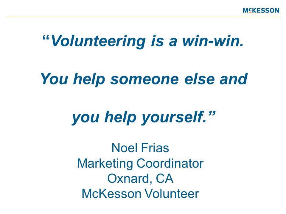 Volunteering is a win-win.
