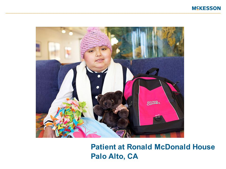 Patient at Ronald McDonald House Palo Alto, CA
