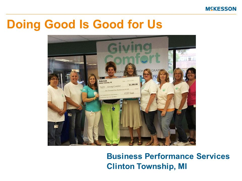 Business Performance Services Clinton Township, MI Doing Good Is Good for Us