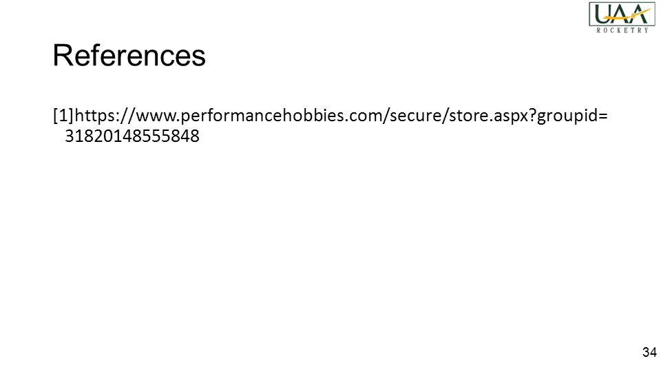 References [1]https://www.performancehobbies.com/secure/store.aspx?groupid= 31820148555848 34