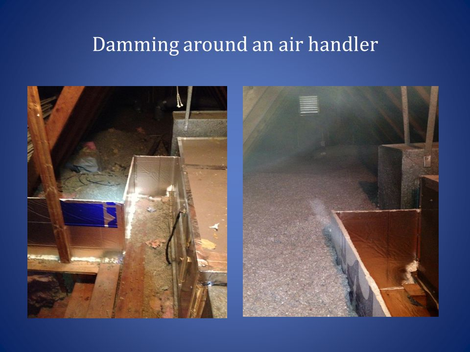 Damming around an air handler