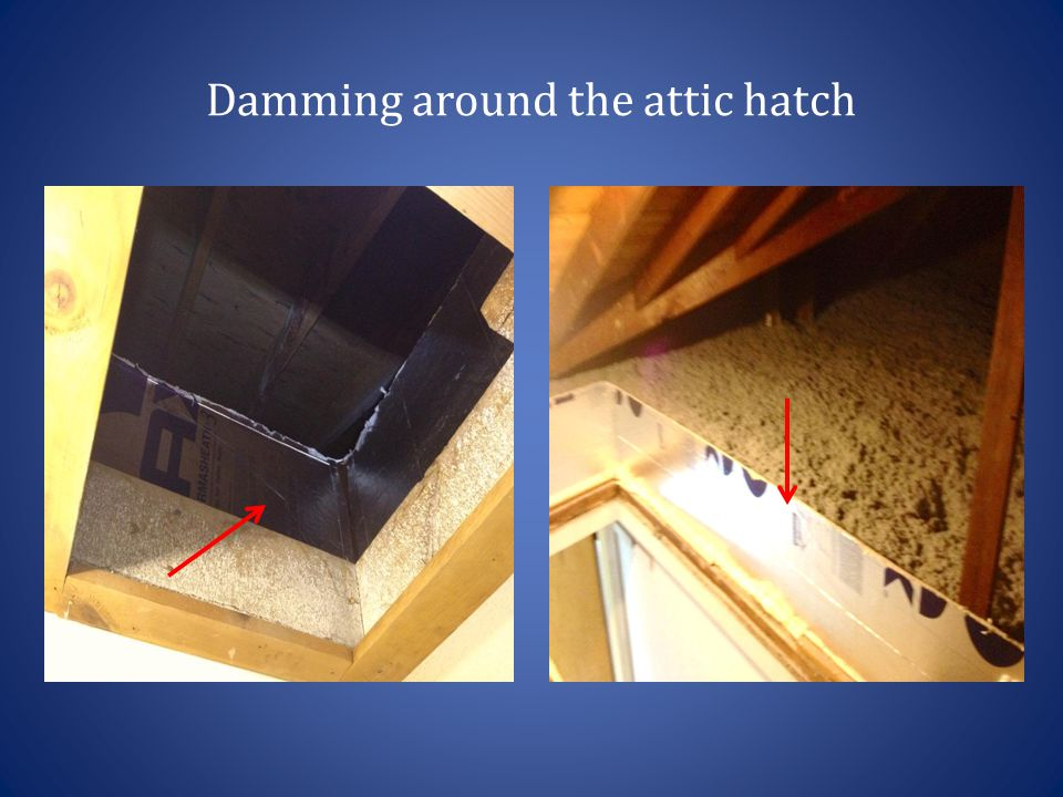 Damming around the attic hatch