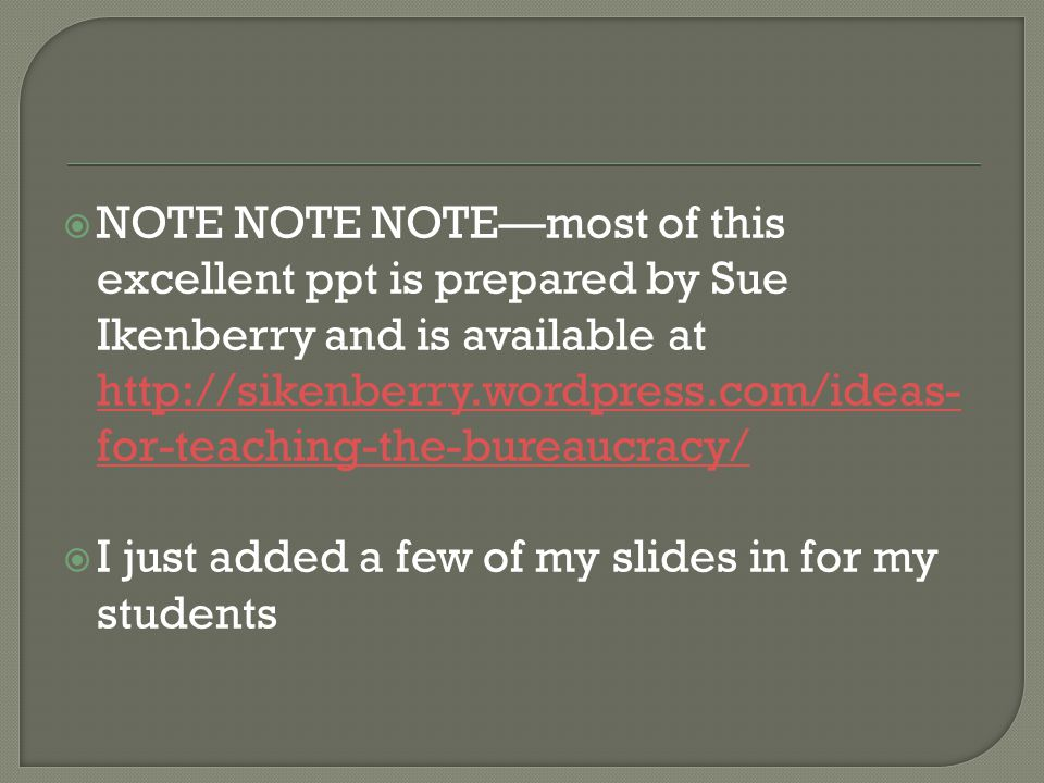  NOTE NOTE NOTE—most of this excellent ppt is prepared by Sue Ikenberry and is available at http://sikenberry.wordpress.com/ideas- for-teaching-the-b