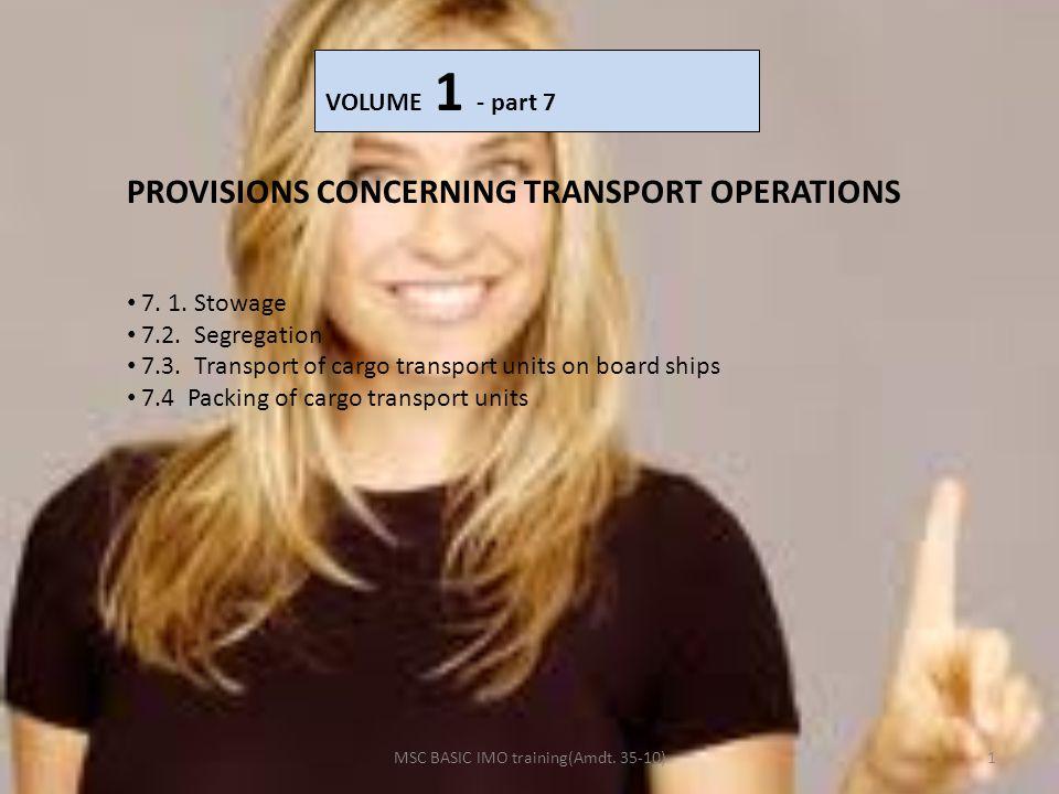 MSC BASIC IMO training(Amdt.35-10)32 1.