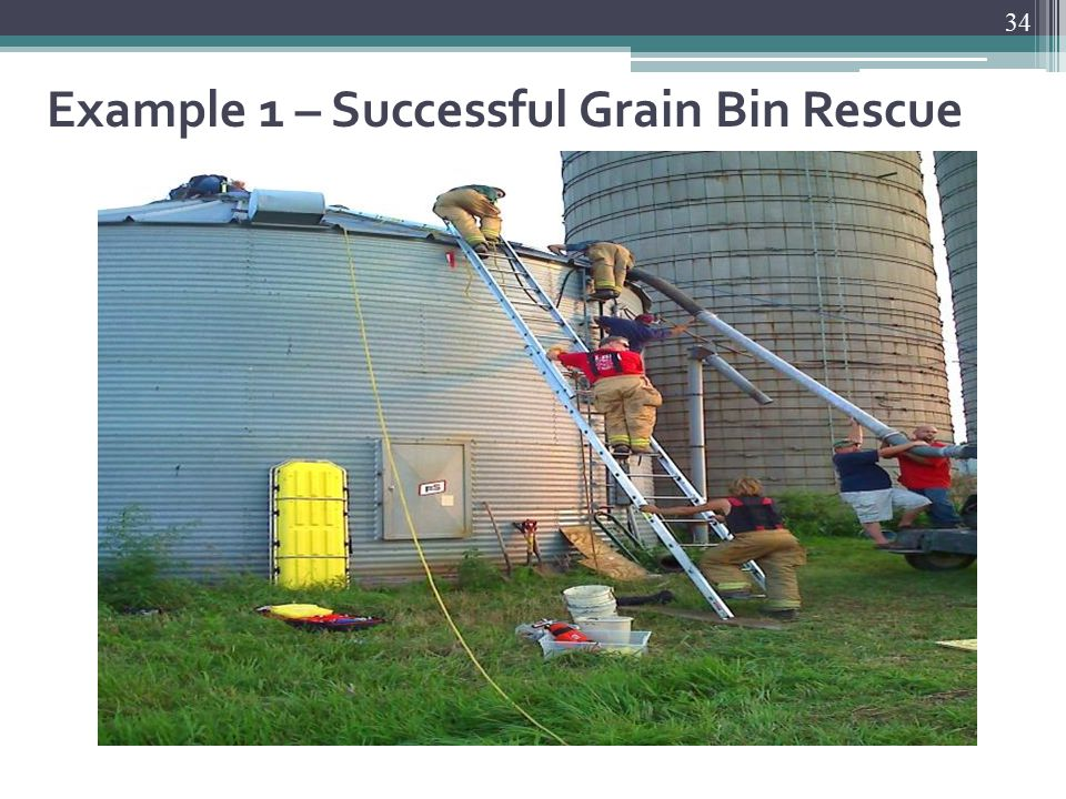 Example 1 – Successful Grain Bin Rescue 34