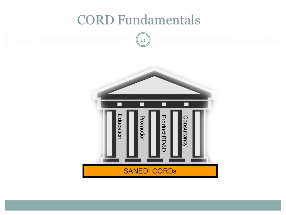 CORD Fundamentals 11 Education Promotion Product RD&D Consultancy SANEDI CORDs