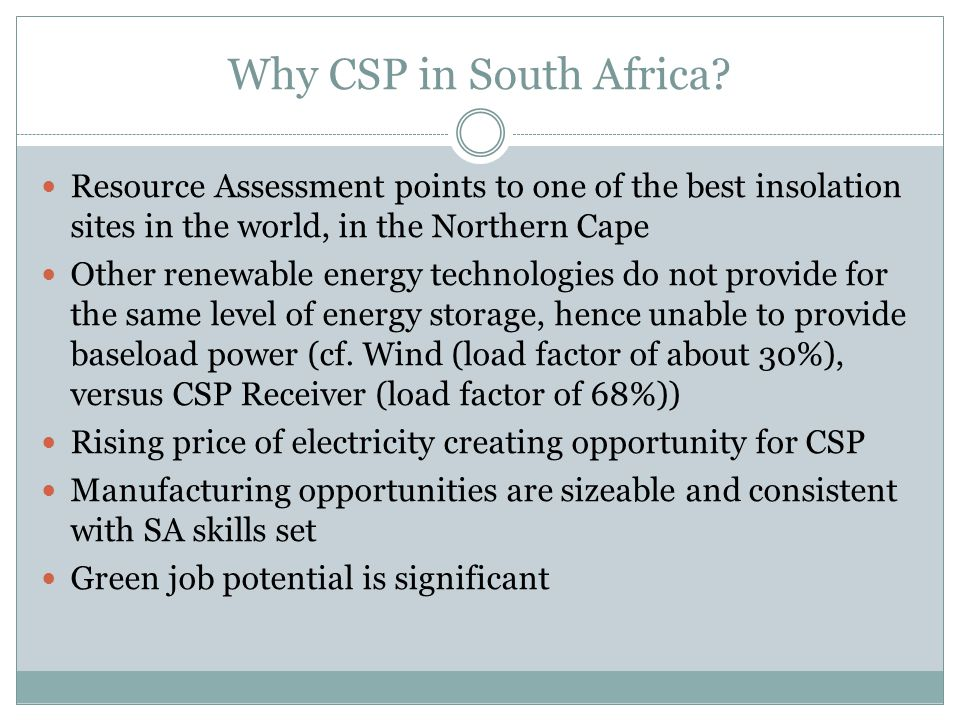 Why CSP in South Africa.