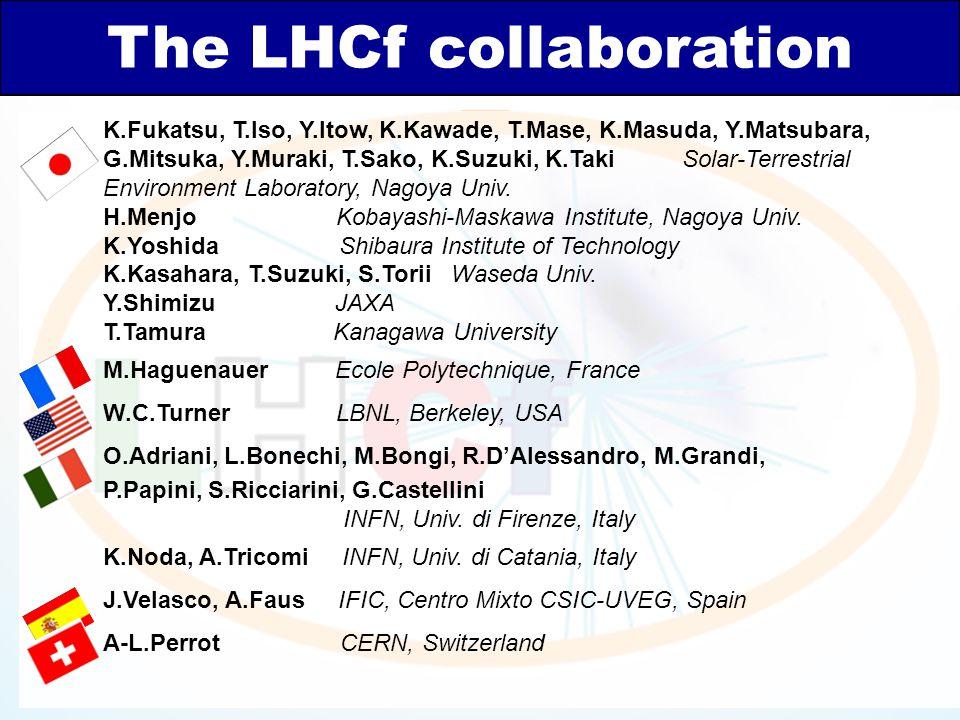 The LHCf collaboration K.Fukatsu, T.Iso, Y.Itow, K.Kawade, T.Mase, K.Masuda, Y.Matsubara, G.Mitsuka, Y.Muraki, T.Sako, K.Suzuki, K.Taki Solar-Terrestr
