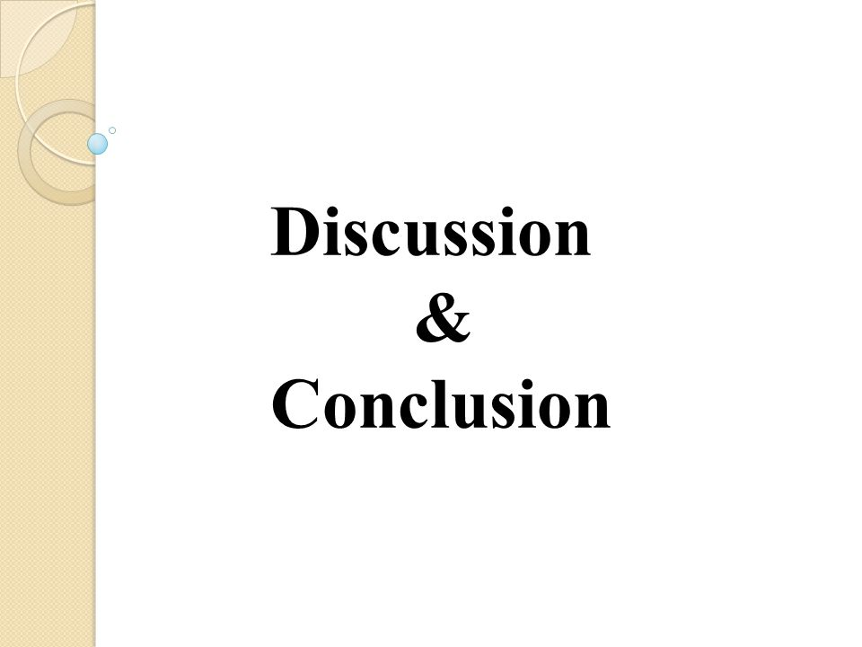 Discussion & Conclusion