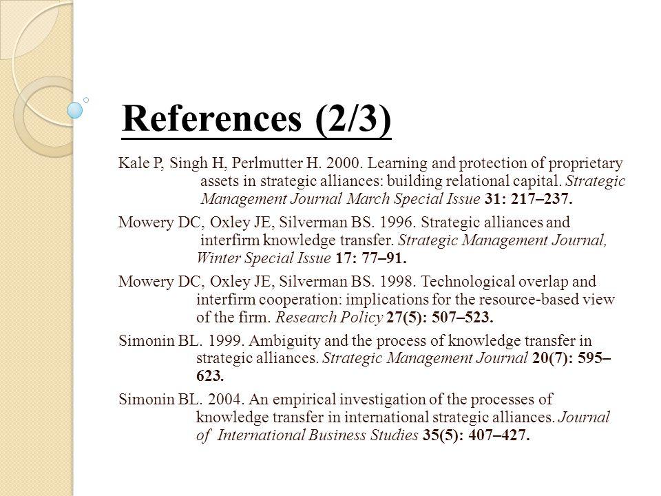 Kale P, Singh H, Perlmutter H. 2000.