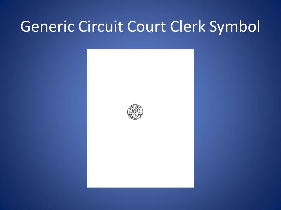 Generic Circuit Court Clerk Symbol