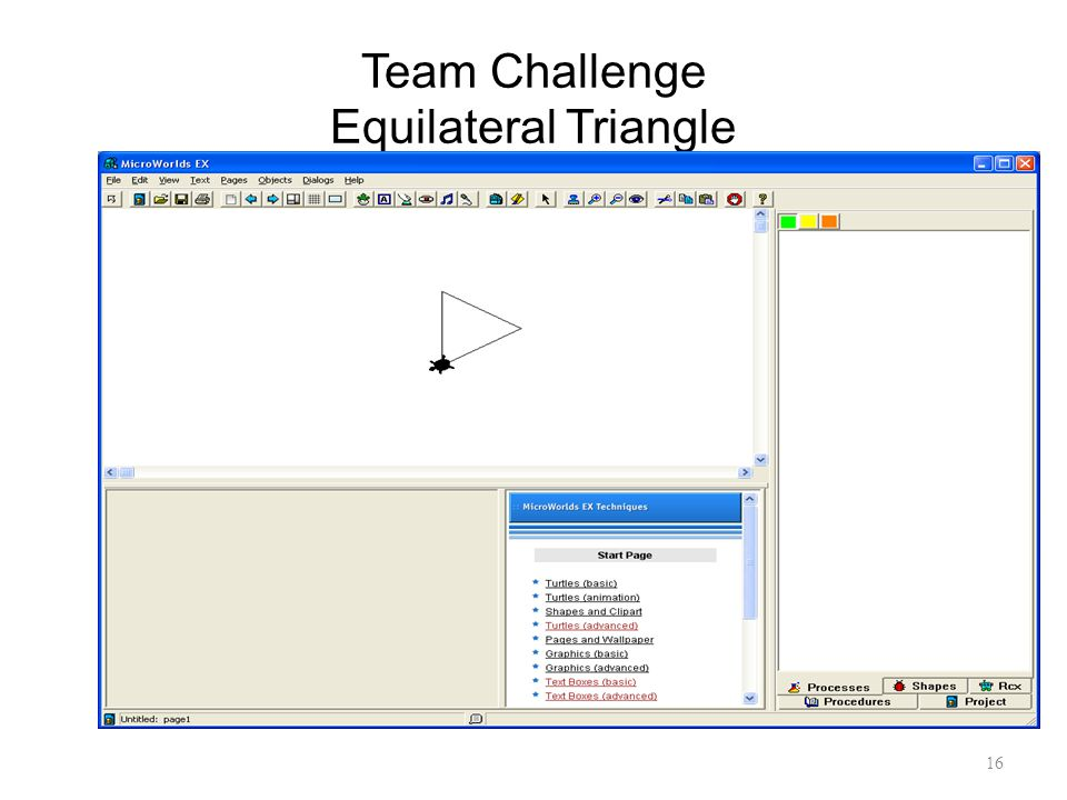 16 Team Challenge Equilateral Triangle