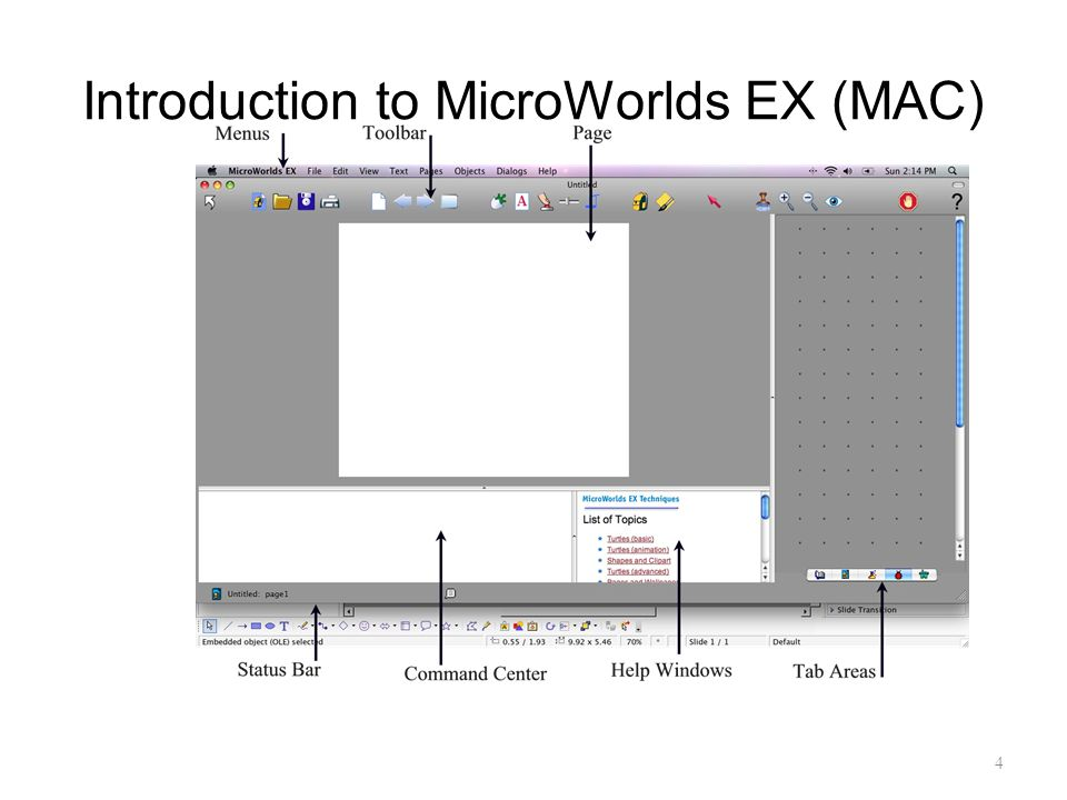4 Introduction to MicroWorlds EX (MAC)
