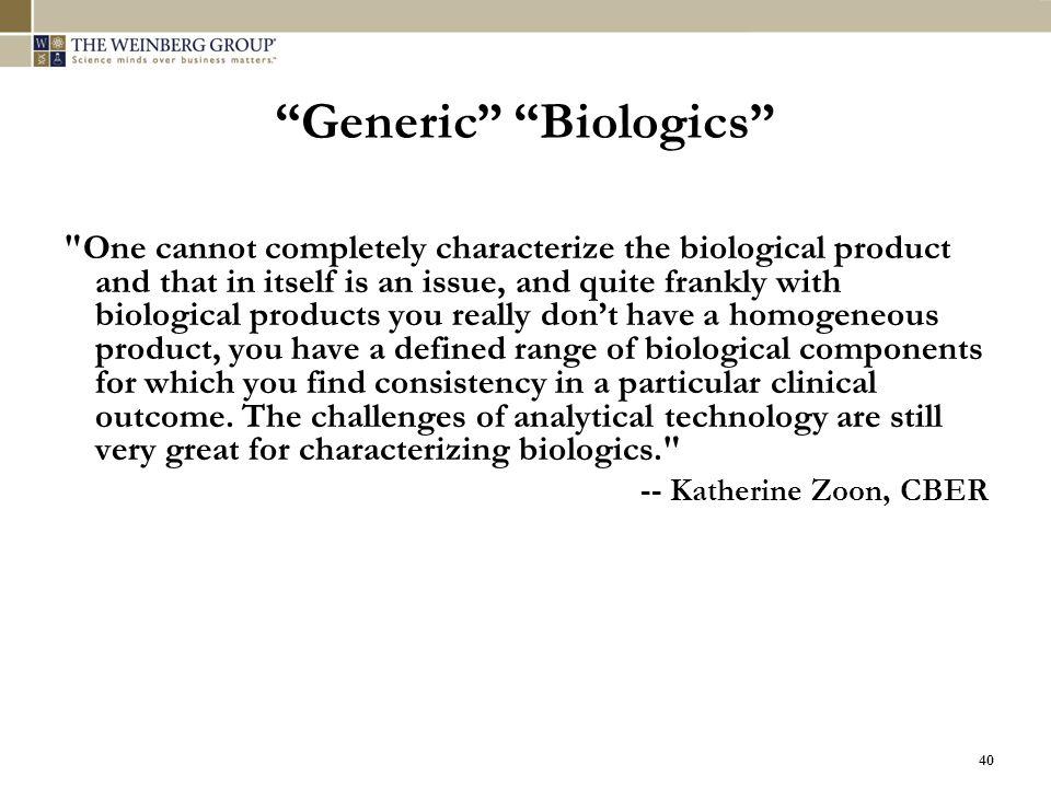 "40 ""Generic"" ""Biologics"""