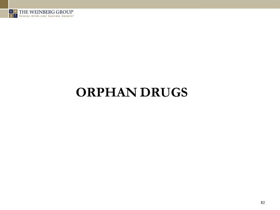 52 ORPHAN DRUGS