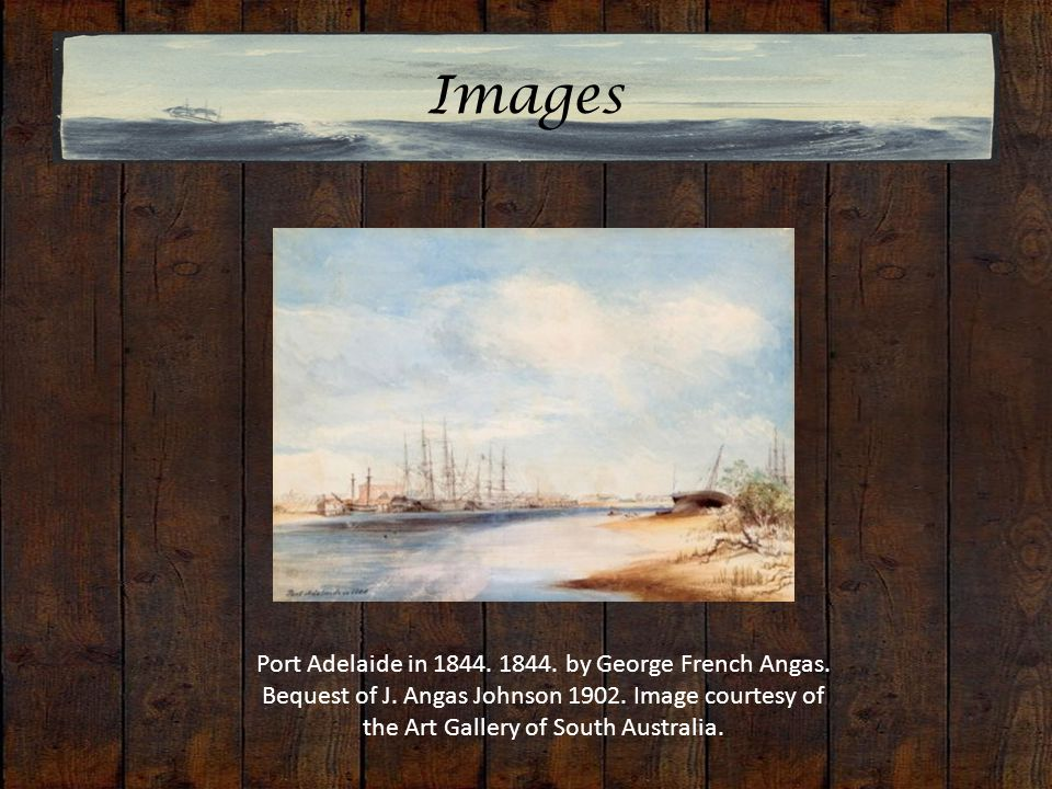 Images Port Adelaide in 1844. 1844. by George French Angas.