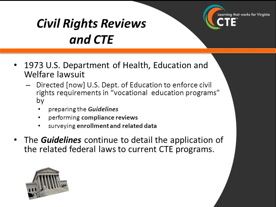 Civil Rights Reviews and CTE 1973 U.S.