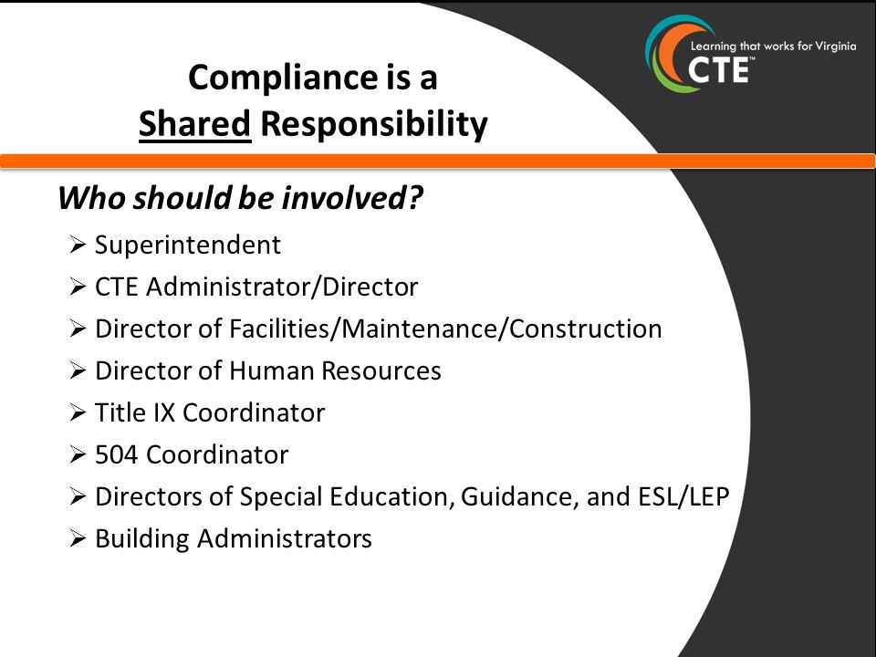 S COPE OF O N - SITE V ISIT Program Compliance – Administrative* – Site Location and Student Eligibility – Recruitment* – Admission* – Student Financial Assistance – Career Guidance and Counseling Service – Work-Based Learning – Employment Facility Compliance – Accessible Facilities* – Comparable Facilities* (*Area of frequent noncompliance)